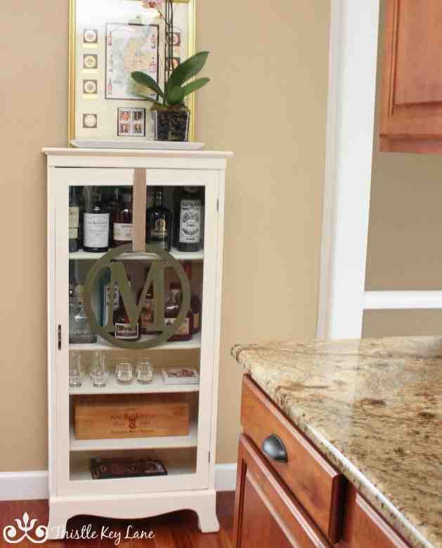 Curio Cabinet Converted to Liquor Cabinet