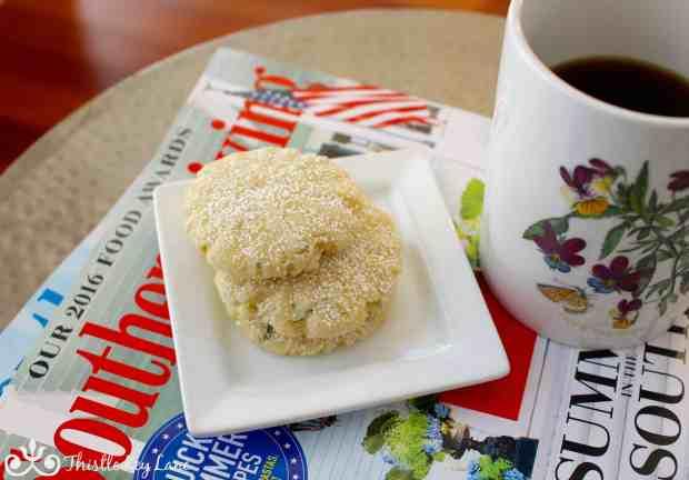 Lemon Thyme Cookies and Coffee