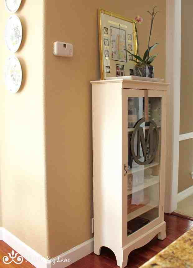 Old White Curio Cabinet
