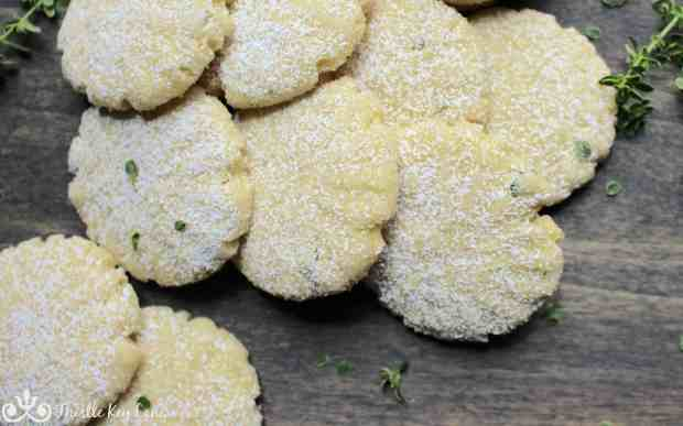 Sweet and Delicate Lemon Thyme Cookies