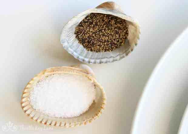 Sea Shells With Salt & Pepper