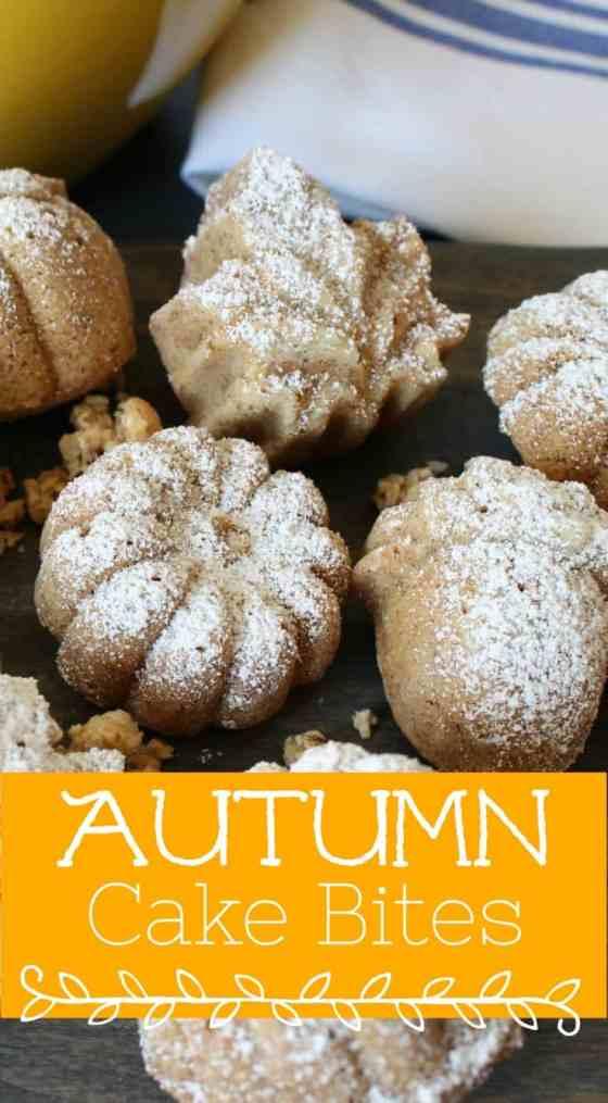 Autumn cake bites for fall!