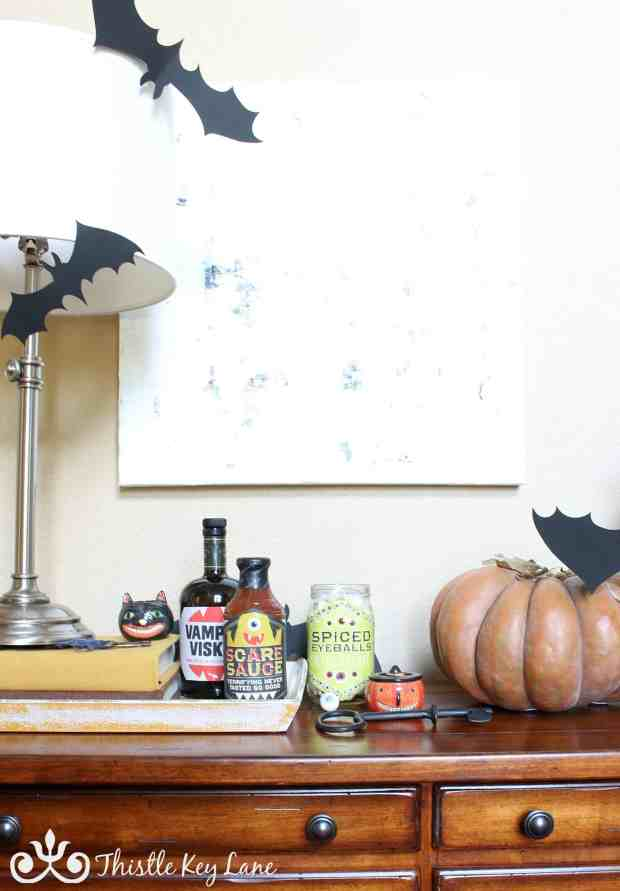Quick decorating for Halloween.