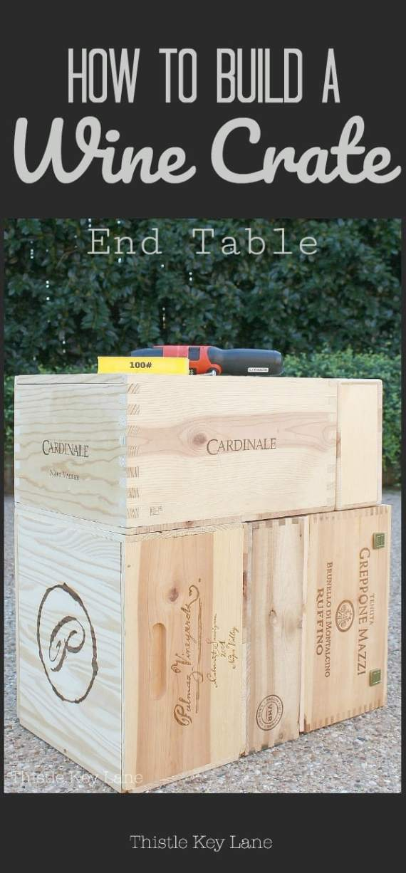 See how easy it is to build a wine crate end table.