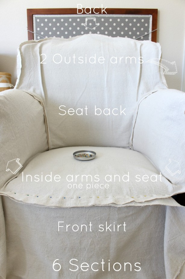 Drop Cloth Armchair Slipcover