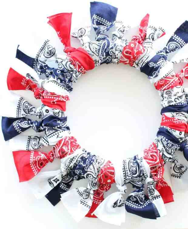 Red, White And Blue Bandana Wreath