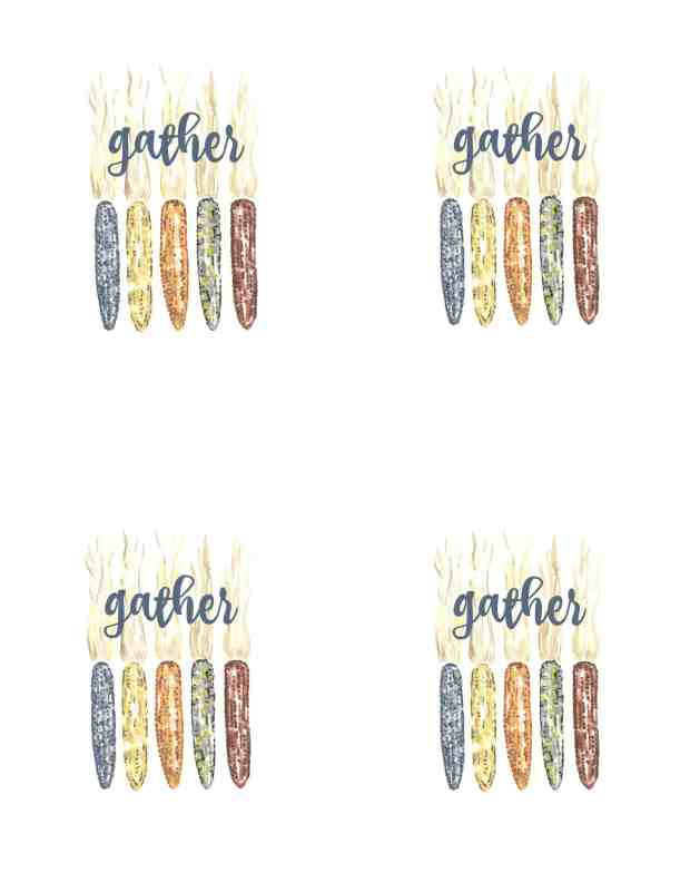 Four printables for your Thanksgiving table.