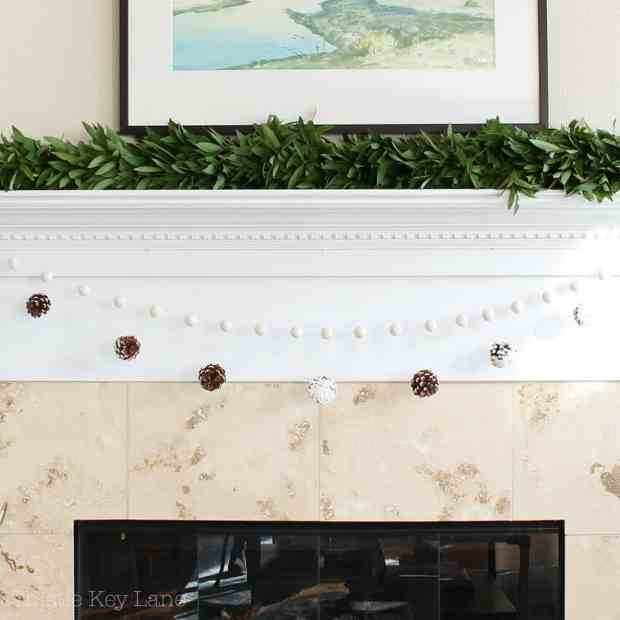 Simple mantel with green and white.
