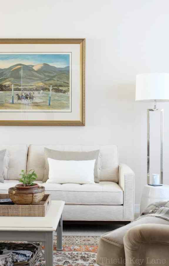 Neutral furniture is easy going and casual.