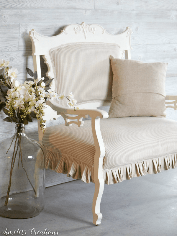 Settee from Timeless Creations.