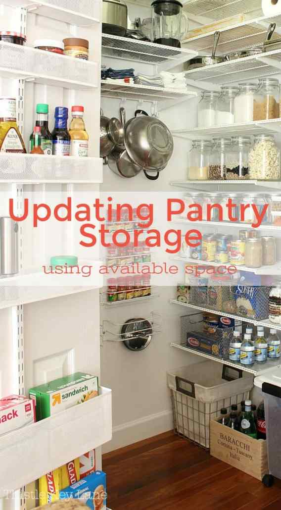 See how to use available space to update pantry storage.