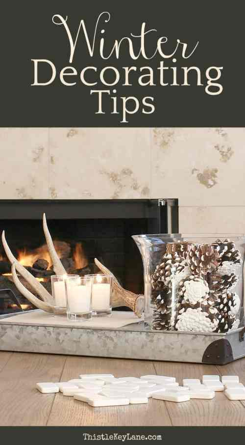 Winter decorating tips and ideas.