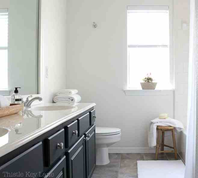Mini bathroom makeover in classic white.