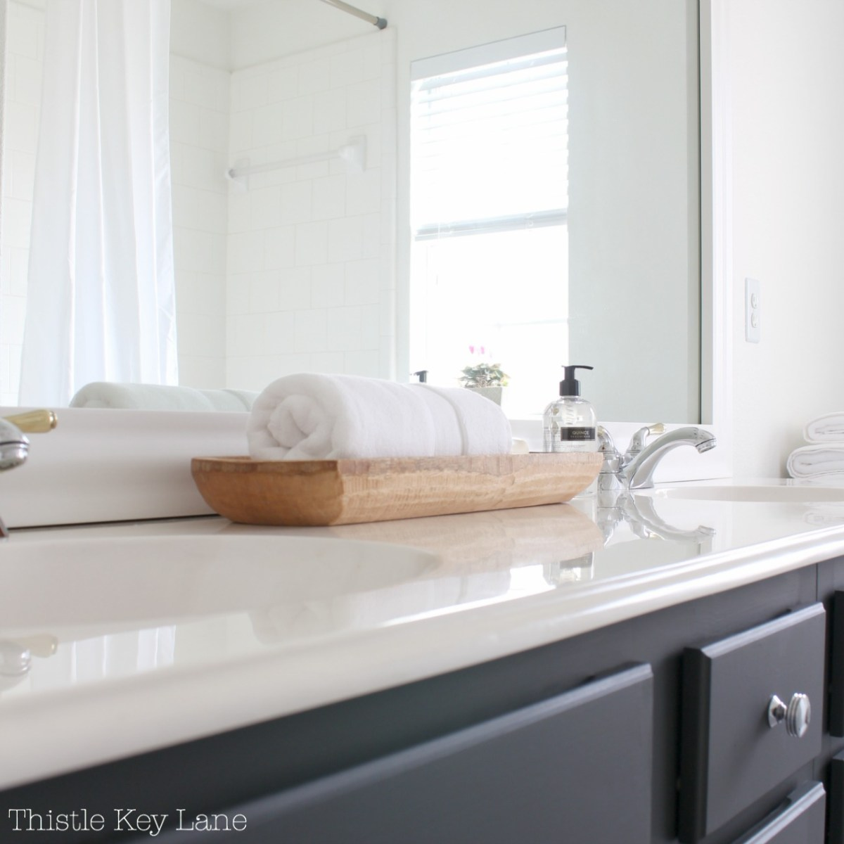 Guest Bathroom Mini Makeover Reveal