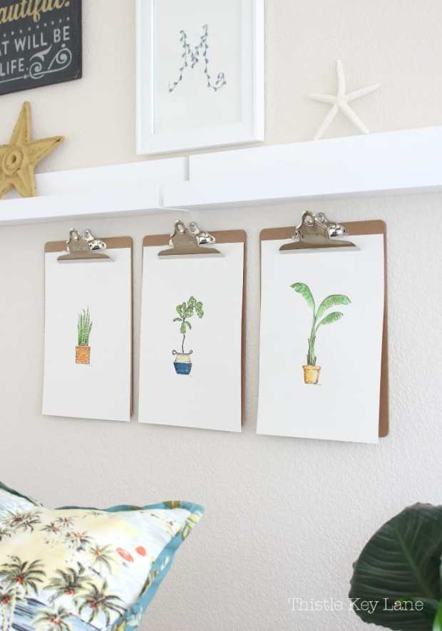 House plant watercolors from Thistle Key Lane.