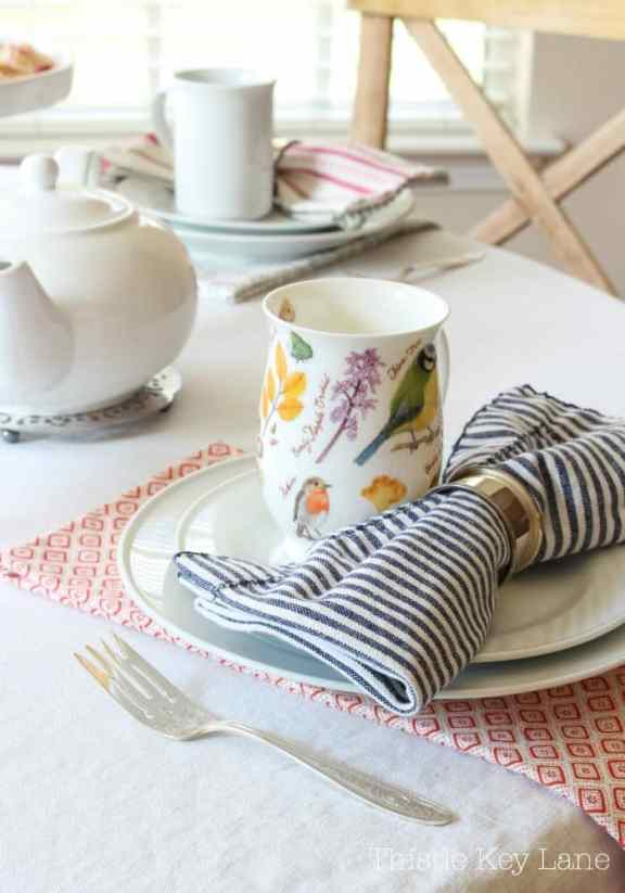 I like the different patterns at each place setting.