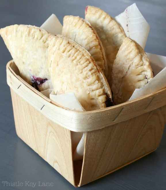 Hand pies in a basket.
