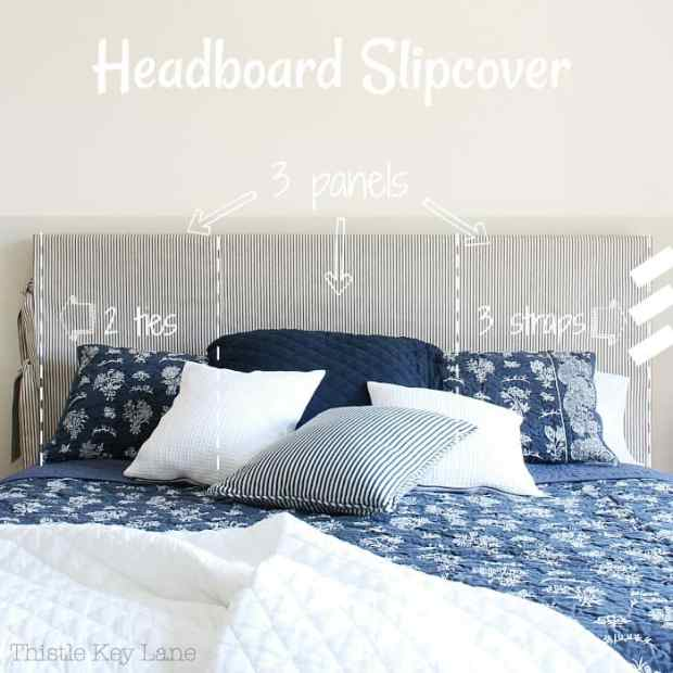 How to make a simple headboard slipcover.
