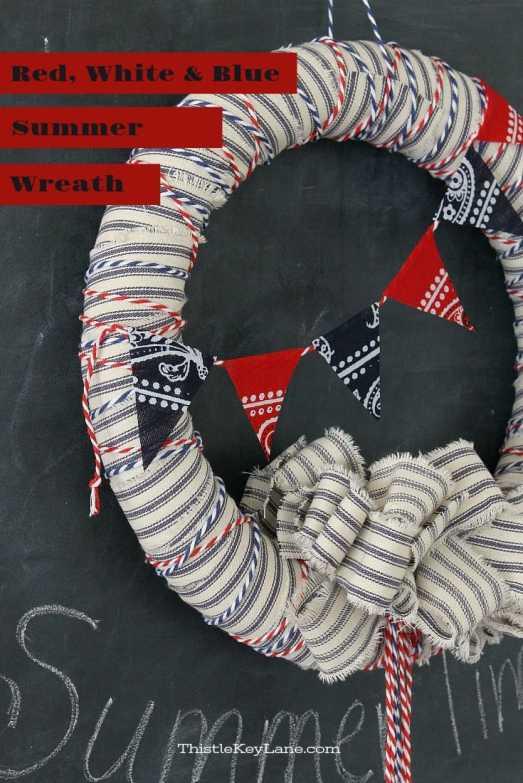 Here's a summer wreath to enjoy through the warm months.
