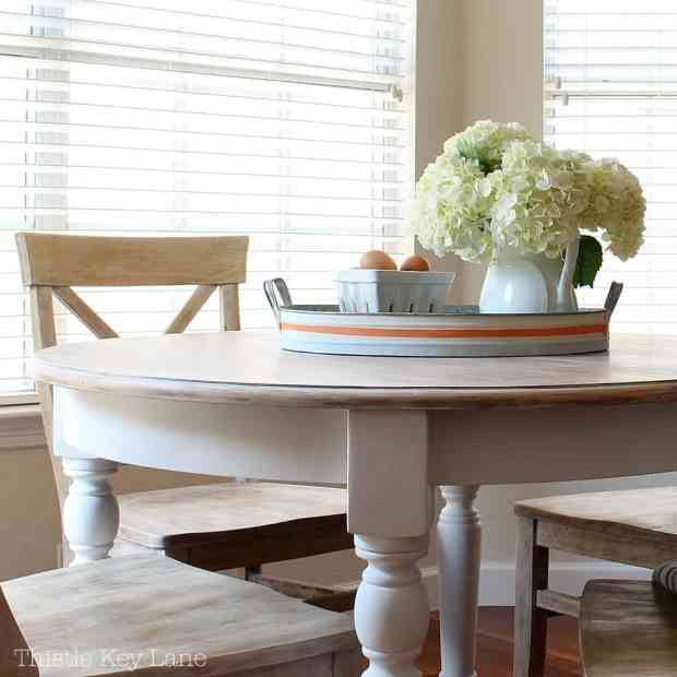 DIY kitchen table makeover step by step.