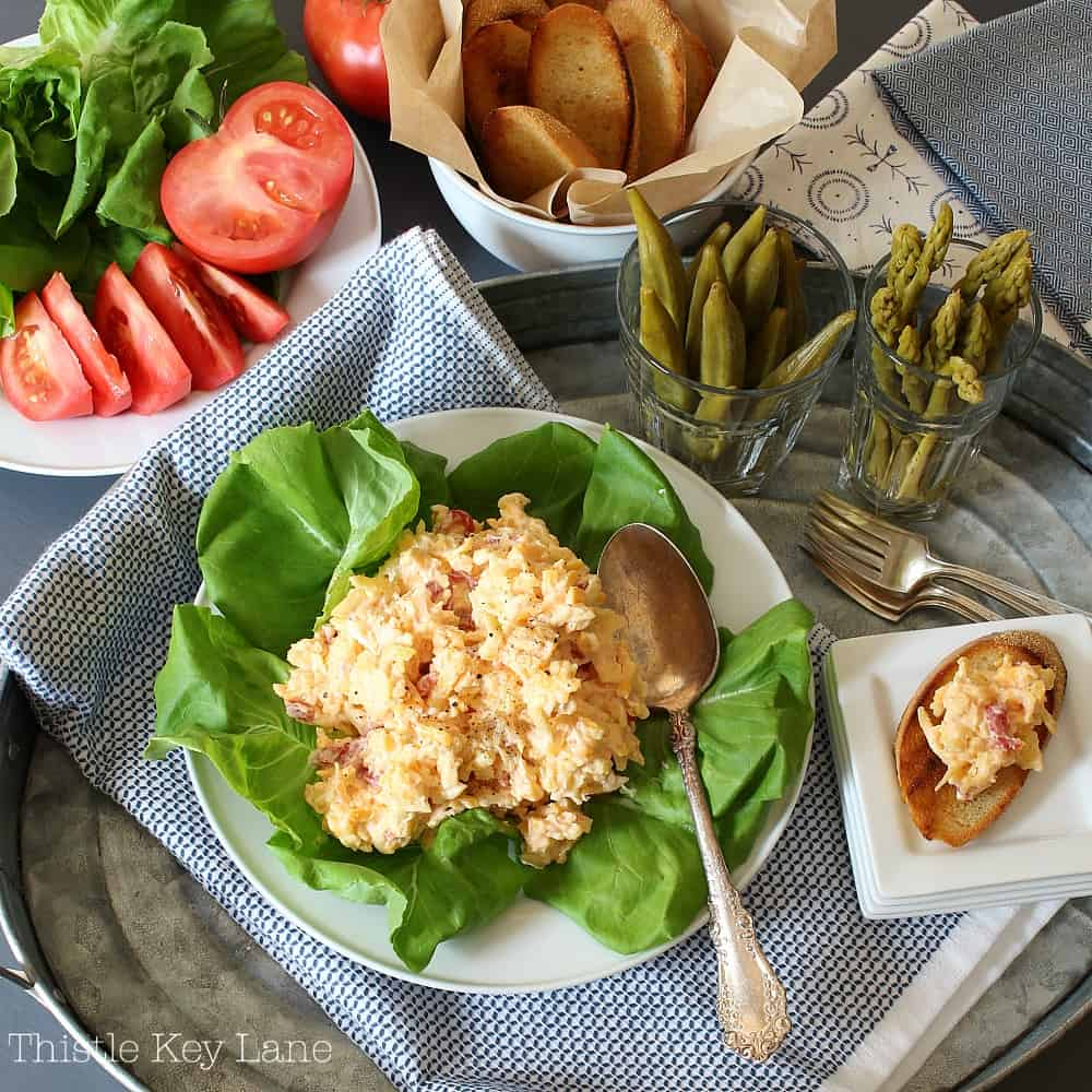 Pimento cheese is so easy to make and delicious.