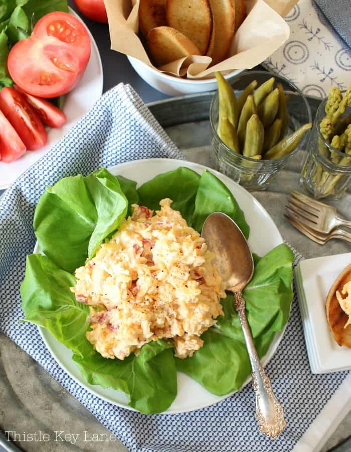 Pimento cheese with all the fixins.