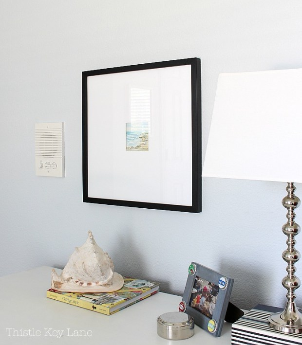 Easy framing ideas with oversized mats and frames.