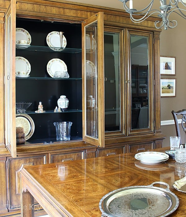 China cabinet before needing to be styled.
