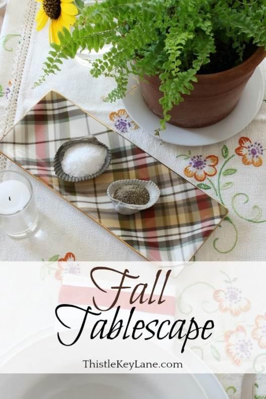 Fall tablescape pin for inspiration. #falltablescape #falldecor #falldecorideas