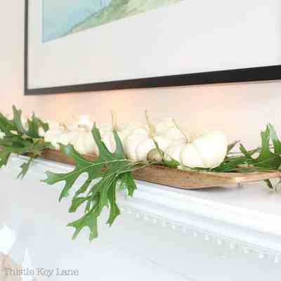 Fall Mantel With Pumpkins And Candles