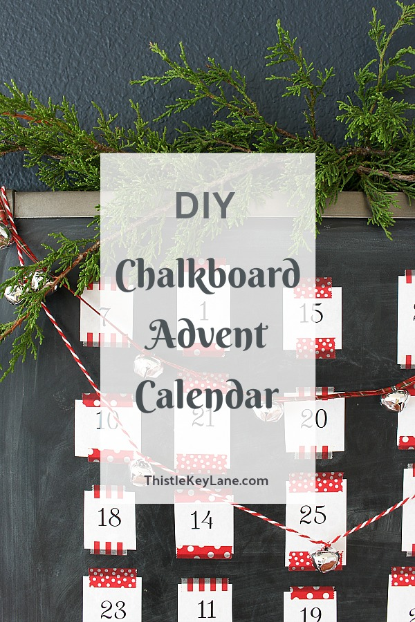 DIY Chalkboard Advent Calendar With Activities