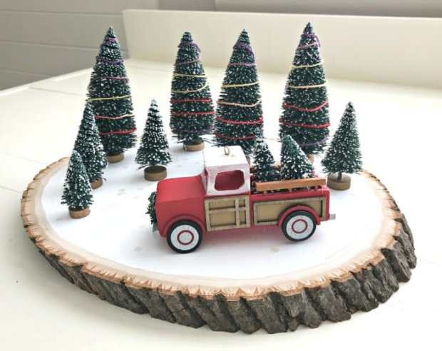 Abbots At Home Red Truck Centerpiece