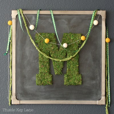DIY Moss Covered Letters