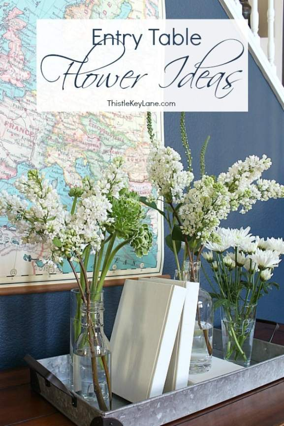 Updating an entry table with beautiful flowers.