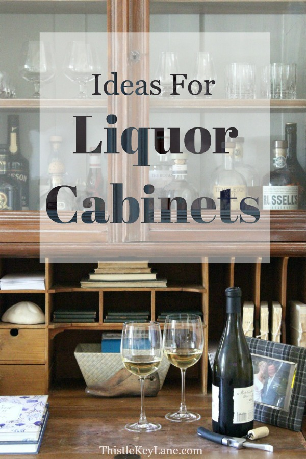 Ideas for liquor cabinets.