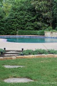 Summer ready patio and garden tour with a view of the pool.