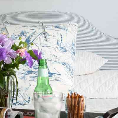 How To Make A Headboard Slipcover And Euro Sham