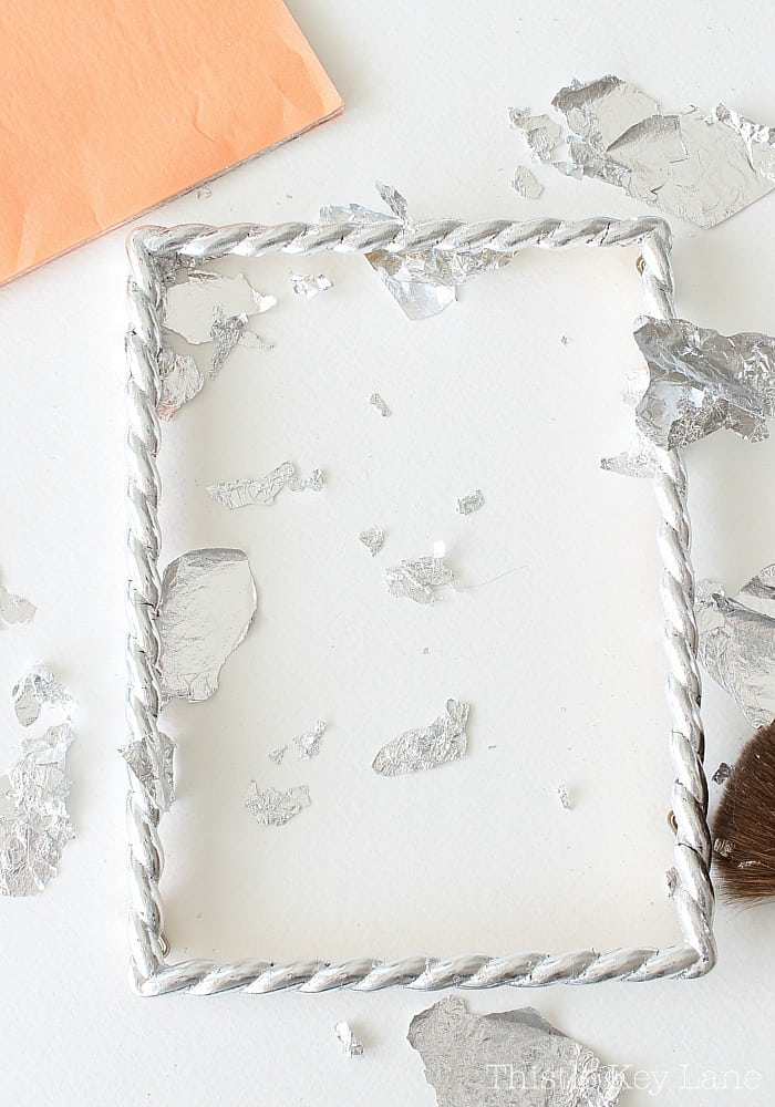 DIY Silver Leaf Frame Process.