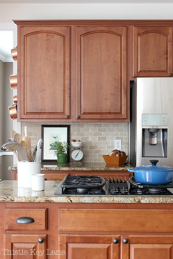 Transitioning Summer To Fall Kitchen Ideas for a brown kitchen.