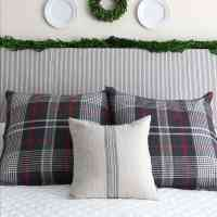 Winter Bedroom With Holiday Greenery