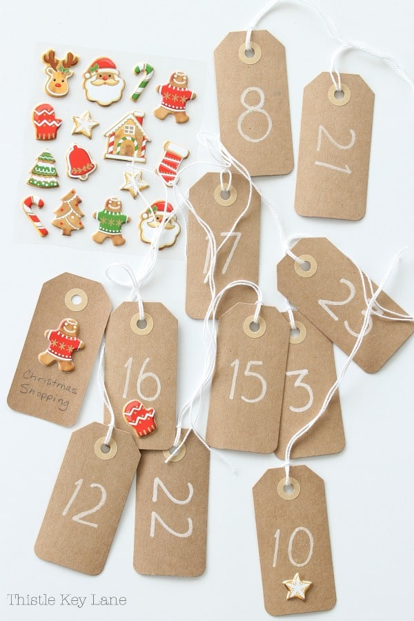 Tags for Christmas crafts.