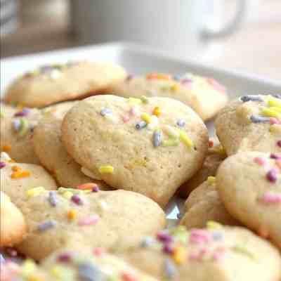 Lemon Sour Cream Pressed Cookie Recipe