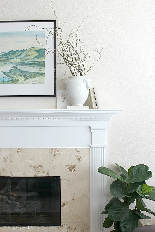 Early Spring Mantel Decorating Ideas with vintage elements.