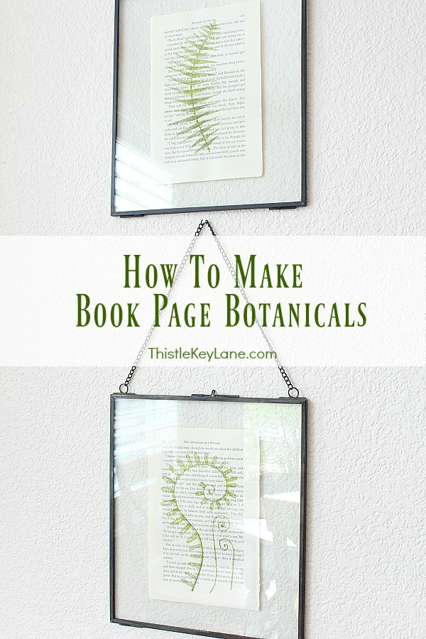 How To Make Book Page Botanical Art
