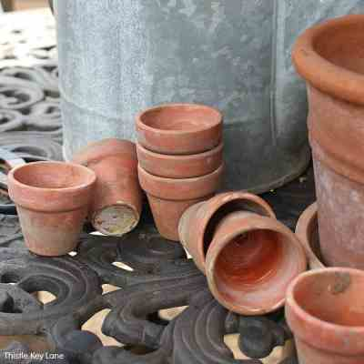 DIY Aging Terracotta Pots