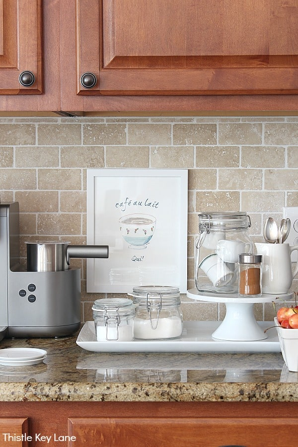 Organizing A Coffee Station And A Free Printable - organizing the counter.