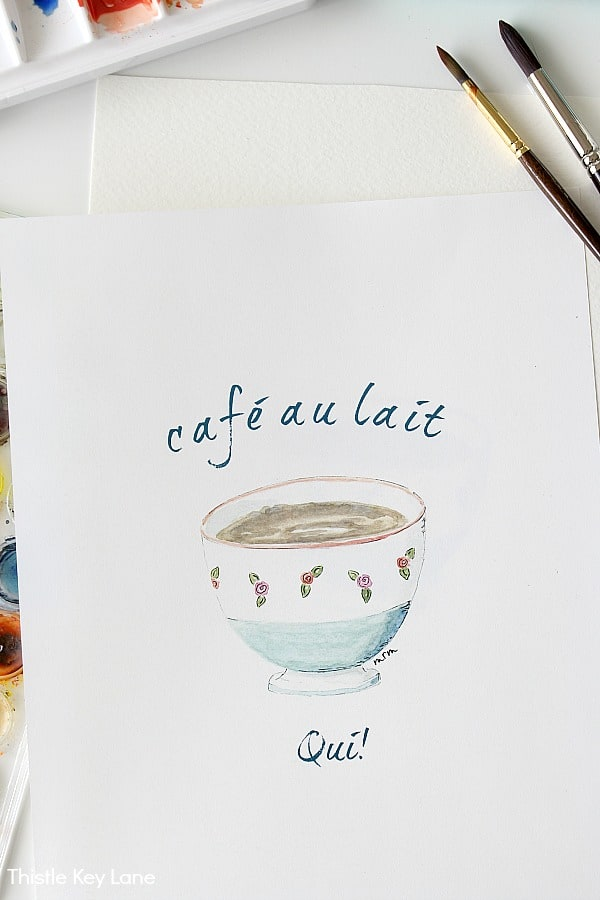 Cafe au lait bowl free printable.