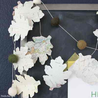 DIY Map Leaf Garland And Fall Printables