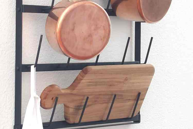 Repurposing A Cup Rack For Pots And Pans