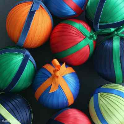 How To Make Ribbon And Ticking Christmas Ornaments